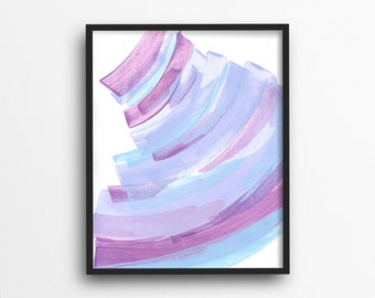 Lilac Nursery Decor, Lavender Wall Art, Periwinkle Print, Wall Art Canvas, Purple Girls Room Decor, Wall Print, Home Decorations