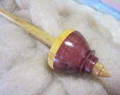 Tibetan Spindle in Purpleheart, Osage Orange & Canarywood