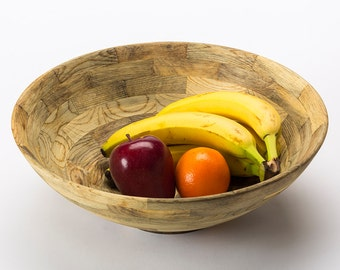 Large Fruit Bowl / Salad Bowl  in beetle-kill pine eco gift wedding