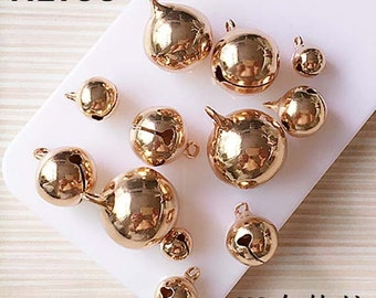 10pcs diy bell charms silver / golden 8mm/10mm/12mm/14mm/16mm/18mm