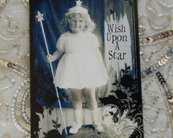 Wish Upon A Star Decoupage Decorative Wall Plaque Sign Hanging
