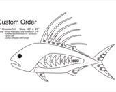 "Rooster 40"" Custom Order"