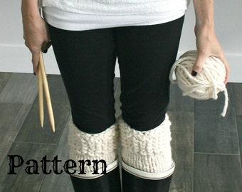 Knitting PATTERN/Leg Warmers/The Polar Boot Warmers