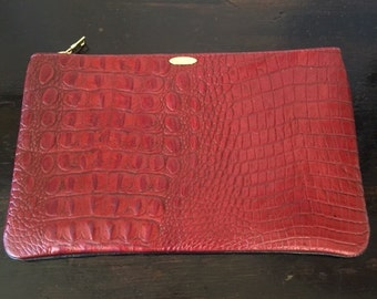 Red Croc.  Pouch 7 x11 inches