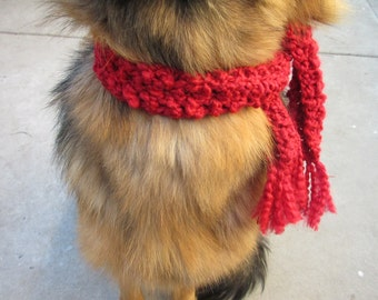 Dog Scarf  Thick Bulky Christmas Dog Scarf  Size XXSmall-XXXLarge Perfect Your Pet
