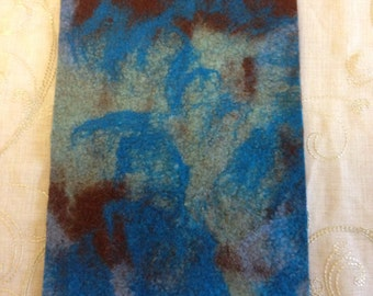 Felt Fabric Piece Blue and Brown for Crafting Handmade Felt Autumn Fall Crafts