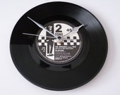 """THE SPECIALS Vinyl record clock Recycled Record Wall clock Gift for music lovers Man cave Bar Music room 7"""" single 1980s Do Nothing"""