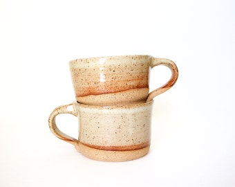 Pottery Coffee Mug in Speckled Cream by RiverStone Pottery
