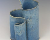 Sky blue three part vase