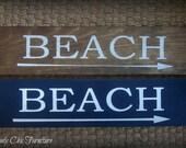 Beach Sign Plaque~Wall Decor~Coastal Home