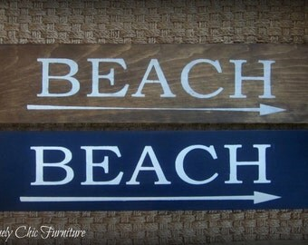 Beach Sign Plaque~Wall Decor~Coastal Home-arrow left or right