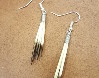 Porcupine Quill Prong Earrings
