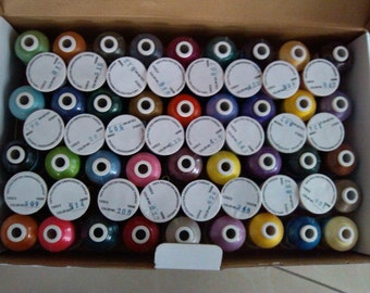 Machine embroidery  1000m trilobal polyester threads  60 Brother shades(not Brother)