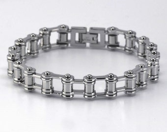 Stainless Steel Bicycle Chain Bracelet                           CC-30827