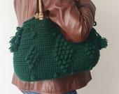 BAG //Teal Green Bag Tote Handbag LeatherHandbag Leather Tote Handmade Bag Unique Bag  Celebrity Bag Girlfriend Gift Valentine's Day
