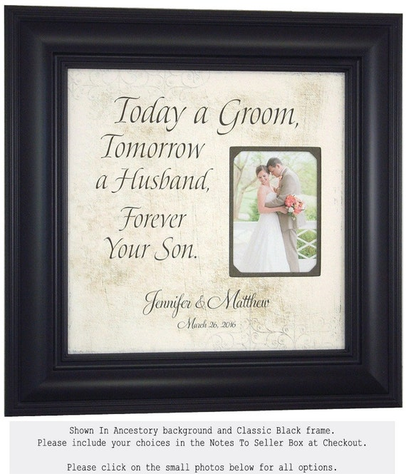 Wedding Picture Frame For Groom Parents By PhotoFrameOriginals
