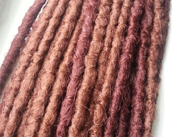 Mixed Auburn Crocheted Synthetic Dreadlock Extensions - 28 SE Dreads - Red Auburn & Light Auburn Ready to Ship