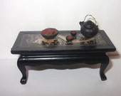 Dollhouse Miniature Oriental Style table, scale 1/12