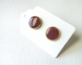 Marsala Earrings - Marsala Studs - Marsala Posts - Marsala Stud Earrings