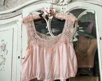 An Antique Handmade Pink Corset Cover That Your Mannequin Will Love