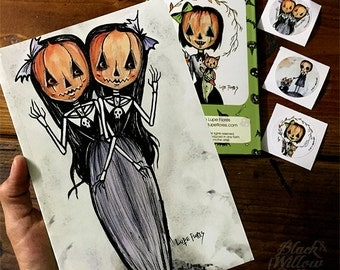 It's Hallows Eve Everyday Notebook with stickers by LF