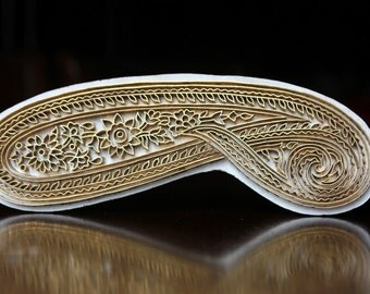 Indian Wood Stamp, Textile Stamp, Wood Blocks, Tjaps, Pottery Stamps, Printing Brass Stamp- Paisley