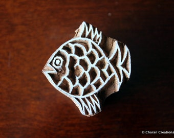 Soap Stamp, Pottery Stamp, Henna Stamp, Indian wood stamp, Tjap- Small Fish