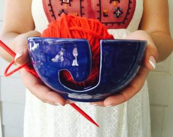 Pottery Yarn Bowl | Knitting | Yarn Bowl |Personalized | handmade in my Charleston, SC studio