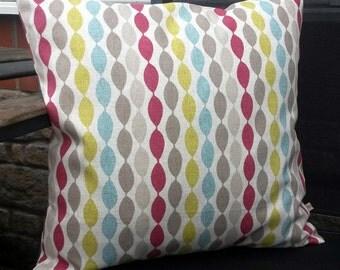 bold cushion - geometric pillow cover - striped pillow cover - modern cushion cover - modern decor - striped cushion - colourful cushion
