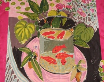 Metropolitan Museum of Art  Silk Scarf ~ Matisse Goldfish Scarf Gift For Her