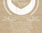 Kraft Paper Wedding Invitations, Rustic Summer Wedding, Custom Wedding Invitation Listing for sweetiedee04