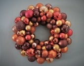 Special Order-Alison- AUTUMN Wreath BROWN, Copper, Gold, Ornament Wreath Fall Wreath