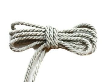 4 mm Linen Rope = 27 Yards = 25 Meters Natural Linen Cord - Natural Color - Organic Natural Fiber Cord - Decorative Rope