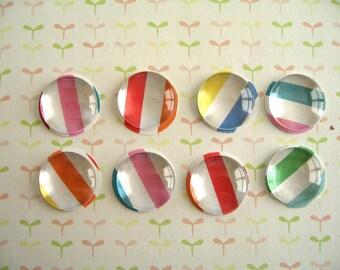 Small Red Yellow, Green Glass Thumbtack Push Pins, Small Round Glass Push Pins, Party Decoration, Rainbow Color Push Pins, Board Supplies