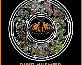 Limited Edition Monarch Butterfly Poster, Rock Poster Artist Poster, Monarch Butterfly