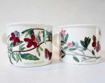 Vintage Portmeirion BOTANIC GARDEN Mugs Viola Tricolor And Lepidotum