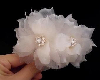 Swarovski Wedding Hair Flower, Bridal Hair Flower, Bridal Hair Piece, Flower Wedding Hair Piece, Bridal Silk Flower, Bridal Hair Accessory