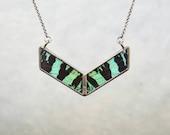 Slender Chevron Necklace - Sunset Moth