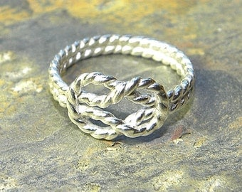 Forget-Me-Knot Ring in Sterling Silver, Your Choice of Finishes R131
