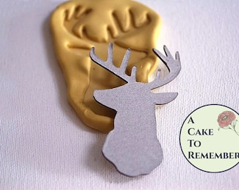 Deer head silicone mold for cake decorating, chocolate clay, polymer clay, paper clay, gumpaste, resin M5061