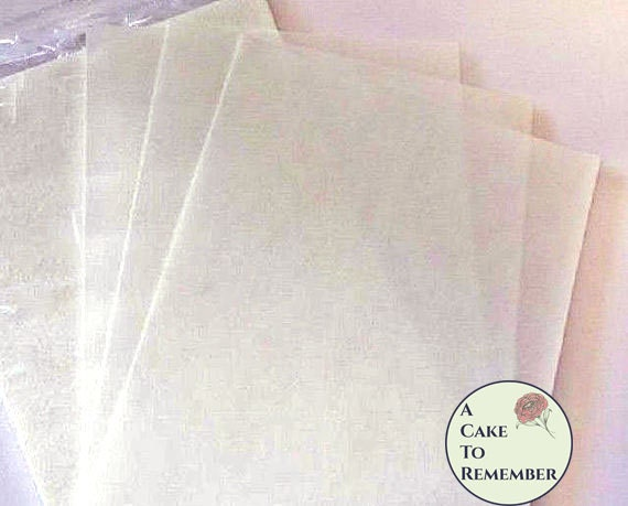 Plain wafer paper for cake decorating 25 sheets of 8 x