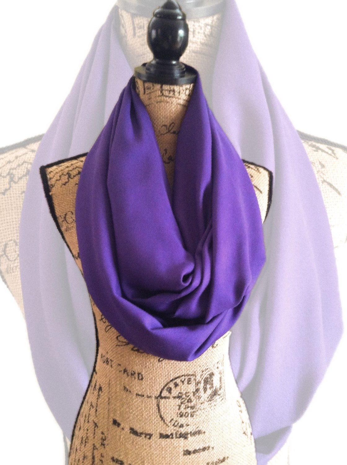 purple travel scarf with pockets infinity scarf with hidden ForTravel Scarf
