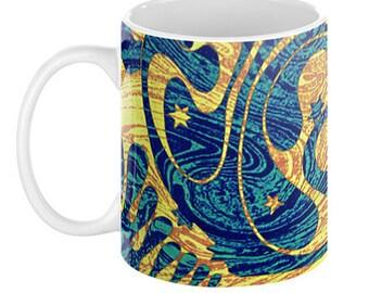 Mosher Quantum Folds Coffee Mug, 11oz or 15oz