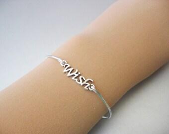 WISH charm bangle bracelet
