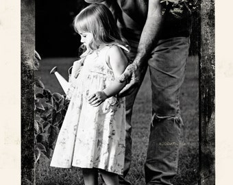 Custom Collage Printed on Watercolor Paper Personalized Your Photo, Choose Size and Color, Color Tint, Black and White, Sepia, Vintage #1003