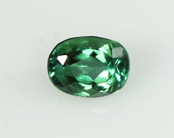 Blue Green Tourmaline 8x6mm Faceted Oval