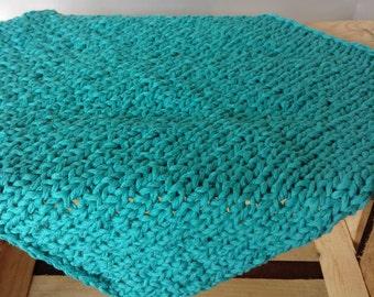 Aqua Bump Blanket Prop, Newborn Blanket Photo Prop, Knit Bump Blanket, Chunky Knit Photo Prop Blanket, Newborn Photography Prop
