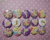 15 Tink Tinkerbell Inspired Craft Flat Back Embellishment Buttons