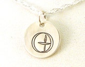 Traditional UU Chalice Necklace - Sterling Silver UU Chalice Necklace - Double Circle Chalice