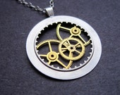 "Watch Parts Pendant ""Adamson"" Delicate Beautiful Mechanical Watch Sculpture Necklace Industrial Steampunk Wearable Art Mechanical Mind"